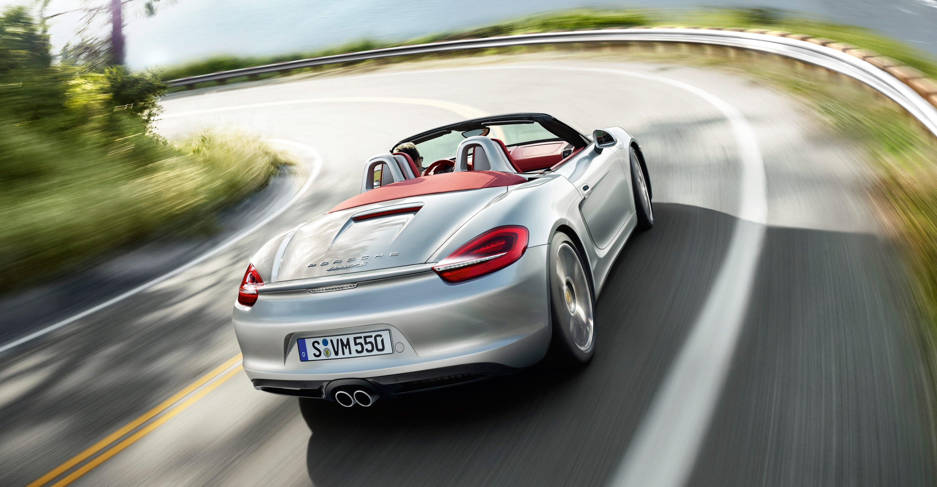 2012 Porsche Boxster S - Rear view