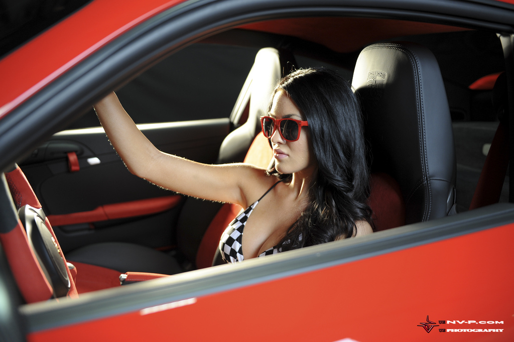 Porsche 911 GT2 RS and Car girl