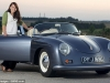 Car Girl and Porsche 356 Cabriolet