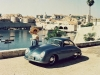Car girl and Porsche 356