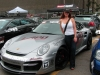 Car girl and Porsche 911 Turbo