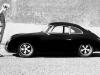 Car girl and Porsche 356 black