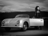 Car girl and Porsche 356 cabriolet by btmphotography