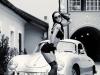 Car girl and Porsche 356