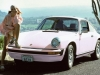 Car girl and Porsche 911 pink