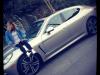 Car girl and Porsche Panamera