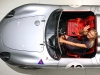 Girl and Porshe: Maria Sharapova poses at the Porsche Museum
