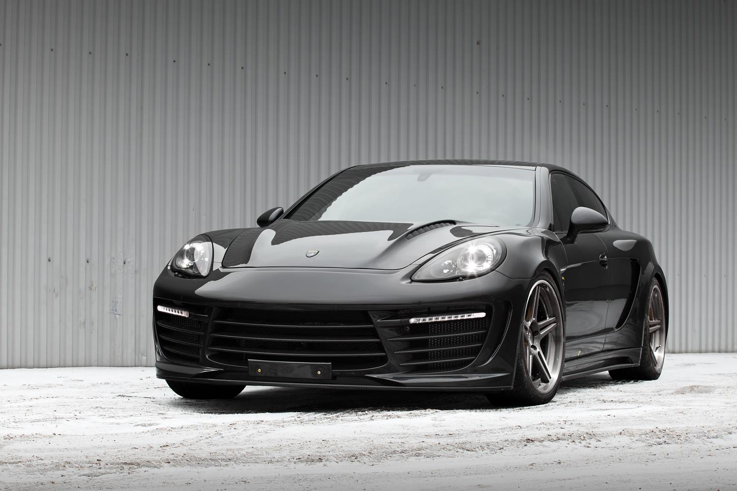 2014 Porsche Panamera by TopCar Tuning with crocodile leather and gold