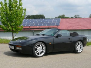 1991 Black Porsche 944 Turbo Cabrio