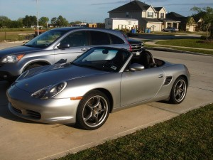 2004 Porsche Boxster 550 Spyder 50th Anniversary Edition Front angle view