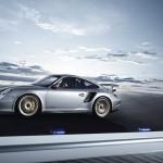 2011 Silver Porsche 911 GT2 RS wallpaper Side view