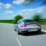 2011 Silver Porsche 911 GT2 RS wallpaper Rear view