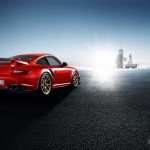 2011 red Porsche 911 GT2 RS wallpaper Side angle view