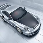 2011 Silver Porsche 911 GT2 RS wallpaper Top view