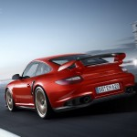 2011 Porsche 911 GT2 RS wallpaper Rear angle view