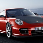 2011 Red Porsche 911 GT2 RS wallpaper Front angle view