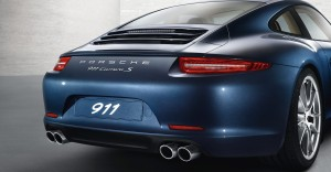 2012 Porsche 911 Carrera S Rear angle view