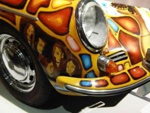 Janis Joplin's 1965 Porsche 356 Convertible Front angle view