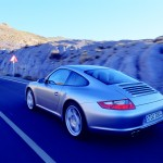 Porsche 997 911 Carrera C4S wallpaper Rear angle view
