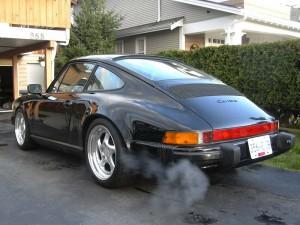 1989 911 Porsche Carrera Rear angle