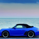 2010 blue Porsche 911 Speedster Side view