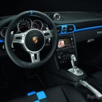 2010 blue Porsche 911 Speedster Interior Steering wheel