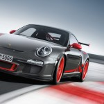 2010 Grey Black Guards Red Porsche 911 GT3 RS wallpaper Front angle view