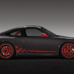 2010 Grey Black Guards Red Porsche 911 GT3 RS wallpaper Side view