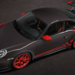 2010 Grey Black Guards Red Porsche 911 GT3 RS wallpaper Top angle view