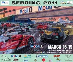 2011 Sebring 12 hours race Poster