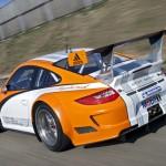 2011 Porsche 911 GT3 R Hybrid 2.0 Rear angle view