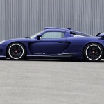 2011 Porsche Carerra GT Gemballa Mirage GT Matte Blue 1024x768 Side view