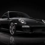 2011 Porsche 911 Black edition Front angle view
