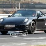 2012 Porsche 911 (991) Cabriolet spy shots Front angle view