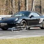 2012 Porsche 911 (991) Cabriolet spy shots Side angle view