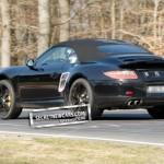 2012 Porsche 911 (991) Cabriolet spy shots Rear angle view