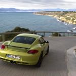 Peridot Metallic 2011 Porsche Cayman R Rear view
