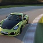 Peridot Metallic 2011 Porsche Cayman R Front top view