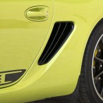 Peridot Metallic 2011 Porsche Cayman R Side view Grid