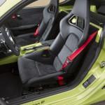 Peridot Metallic 2011 Porsche Cayman R Interior Seats