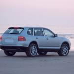Porsche Cayenne 2003 wallpaper Rear angle side view