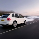 White Porsche Cayenne 2008 1600x1200 wallpaper Rear angle view