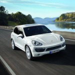 White Porsche Cayenne 2011 1600x1200 wallpaper Front angle view