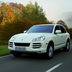 White Porsche Cayenne Diesel 2008 1600x1200 wallpaper Front angle view