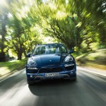 Blue Metallic Porsche Cayenne Diesel 2011 3000x1560 wallpaper Front view