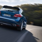 Blue Metallic Porsche Cayenne Diesel 2011 3000x1560 wallpaper Rear angle view