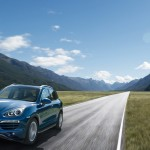 Blue Metallic Porsche Cayenne Diesel 2011 3000x1560 wallpaper Front angle view