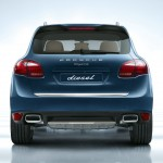 Blue Metallic Porsche Cayenne Diesel 2011 3000x1560 wallpaper Rear view
