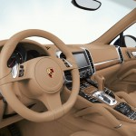 Blue Metallic Porsche Cayenne Diesel 2011 3000x1560 wallpaper Interior