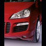 Red Porsche Cayenne GTS 2008 1600x1200 wallpaper Front corner